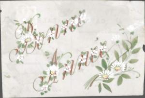 Zelluloid Ak Glückwunsch Neujahr, Bonne Année, Blumen