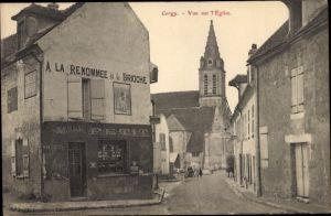 Ak Cergy Val d'Oise, Vue sur l'Eglise