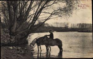 Ak Cergy Val d'Oise, Bords de l'Oise a Gency