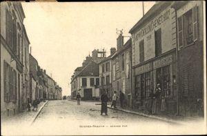 Ak Guignes Rabutin Seine et Marne, Grande Rue