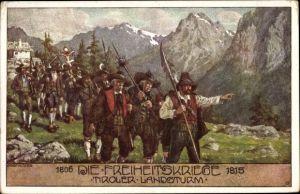 Künstler Ak Kutzer, Ernst, Tiroler Landsturm, Freiheitskriege 1809, Andreas Hofer