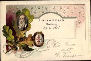 Präge Litho Hamburg, Gaucommers, Turnvater Jahn, Turnerbund, Eichenlaub