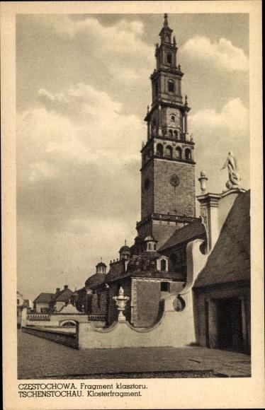 Ak Częstochowa Tschenstochau Schlesien, Klosterfragment