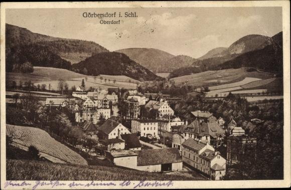 Ak Sokołowsko Görbersdorf Schlesien, Blick auf das Oberdorf