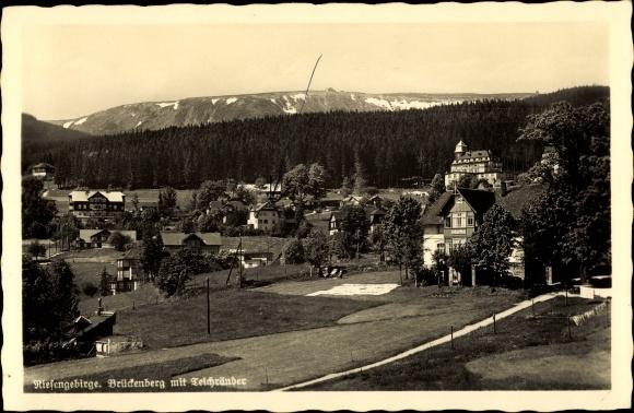 Ak Brückenberg b. Krummhübel Riesengebirge Schlesien, Panorama