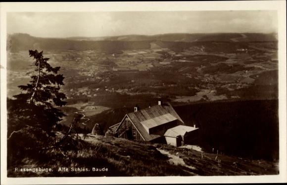 Ak Szklarska Poręba Schreiberhau Schlesien, Alte schlesische Baude, Schronisko Pod Łabskim Szczytem