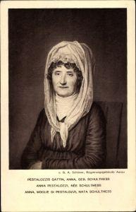 Künstler Ak Schöner, G. A., Anna Pestalozzi, geborene Schulthess, Portrait