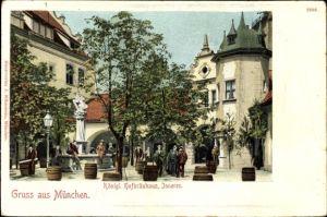 Ak München Bayern, königliches Hofbräuhaus, Innenseite