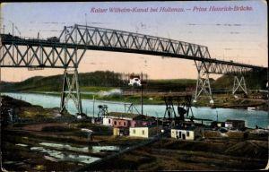 Ak Holtenau Kiel in Schleswig Holstein, Kaiser Wilhelm Kanal, Prinz Heinrich Brücke