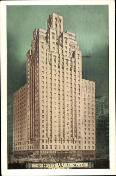 Ak New York City USA, Hotel Wellington