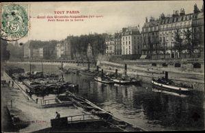 Ak Paris VI., Quai des Grands Augustins, Petit Bras de la Seine