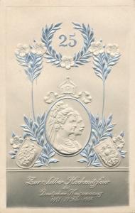 Relief Ak Kaiser Wilhelm II., Silberhochzeit des Kaiserpaares 1906
