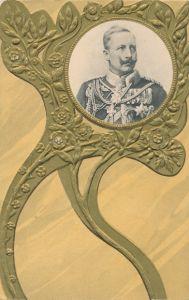 Präge Passepartout Ak Kaiser Wilhelm II., Portrait