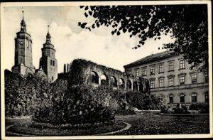 Ak Krnov Jägerndorf Mährisch Schlesien, Stadtmauer, Mestska zed