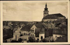 Ak Mimoň Niemes Region Reichenberg, Ortschaft, Kirche