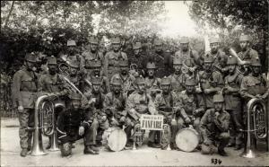 Foto Ak Schweizer Soldaten in Uniformen, Bataillon de fus. No. 3, Fanfare
