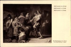 Künstler Ak Pestalozzi in Stans, Bundesfeier 1921