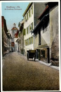 Ak Strasbourg Straßburg Elsass Bas Rhin, Gartengasse