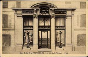 Ak Paris IX., Siège Social de la Providence, Rue de la Victoire
