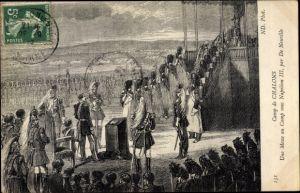 Künstler Ak Camp de Chalons, une Messe au Camp sous Napoleon III
