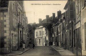 Ak Les Montils Loir-et-Cher, Grande Rue