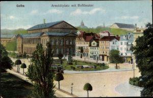 Ak Gotha im Thüringer Becken, Arnoldiplatz mit Hoftheater