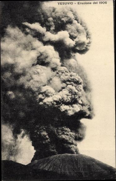 Ak Napoli Neapel Campania, Vesuvio, Eruzione del 1906