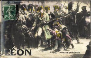 Puzzle Künstler Ak Retraite de Russie, Napoleon, Russlandfeldzug