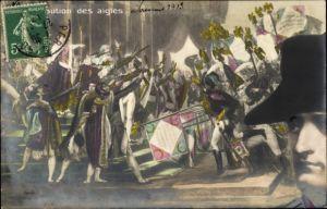 Puzzle Künstler Ak Distribution des aigles, Napoleon