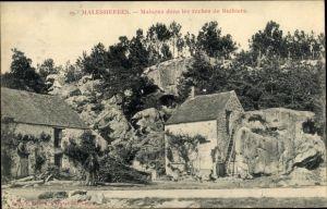 Ak Malesherbes Loiret, Maisons dans lles roches de Buthiers