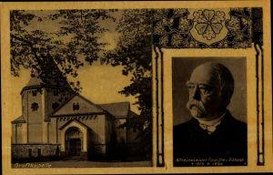 Ak Altreichskanzler Fürst Otto von Bismarck, Portrait, Gruftkapelle