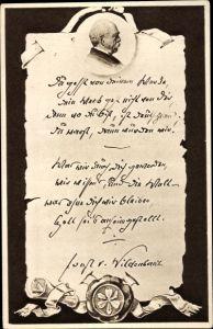 Ak Fürst Otto von Bismarck, Portrait, RPH