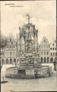 Ak Münster in Westfalen, Lambertusbrunnen