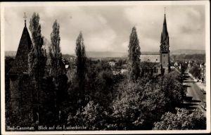 Ak Bad Cannstatt Stuttgart in Baden Württemberg, Blick auf die Lutherkirche