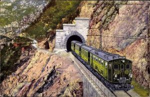 Ak Eisenbahn verlässt den Tunnel, Lok 1060 005