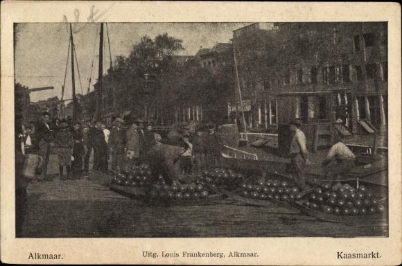 Ak Alkmaar Nordholland Niederlande, Kaasmarkt, Uitg. Louis Frankenberg, Käse