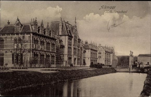 Ak Alkmaar Nordholland Niederlande, Kadettenschool
