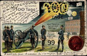 Litho Parole Heimat, Reservisten, Sprengung der letzten 100 Tage