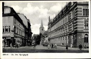 Ak Erfurt in Thüringen, Partie an der Hauptpost