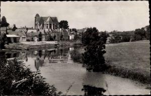 Ak Le Lion d'Angers Maine et Loire, Vue generale au bord de l'Oudon