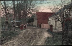 Ak Wesendaler Mühle Altlandsberg, Straßenpartie, Gasthaus