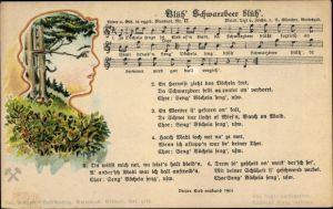 Lied Ak Günther, Anton, Blüh' Schwarbeer blüh', Mundart Nr 17