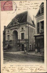 Ak Mer Loir-et-Cher, La Mairie et la Léauté-Cycles