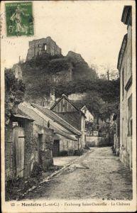 Ak Montoire Loir-et-Cher, Faubourg Saint Oustrille, le Château