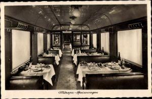 Ak Deutsche Eisenbahn, Mitropa Speisewagen