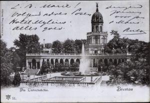 Ak Wrocław Breslau Schlesien, Liebichshöhe, Wzgórze Partyzantów