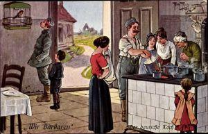 Künstler Ak Thiele, Arthur, Wir Barbaren, Der deutsche Koch