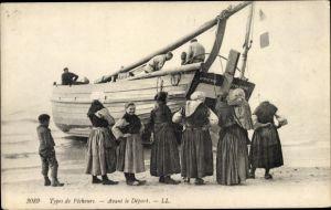 Ak Pas de Calais, Types des Pecheurs, Avant le Départ