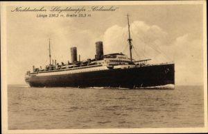 Ak Dampfer Columbus, Norddeutscher Lloyd Bremen