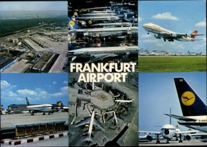 Ak Frankfurt am Main, Rhein Main Flughafen, Lufthansa